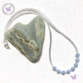Angelite & Crystal Quartz Necklace
